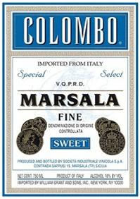 Colombo Marsala Fine Sweet 750ml - Case...